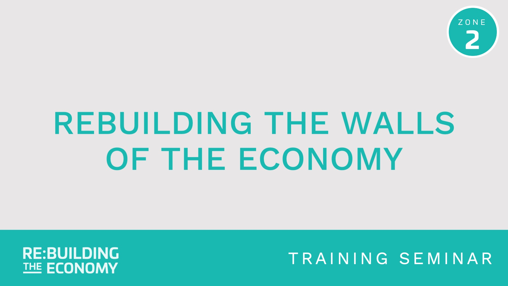 Rebuilding the economy course